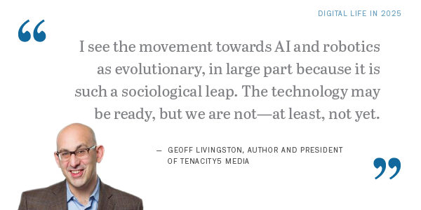 Geoff Livingston Quote Pew Research Center