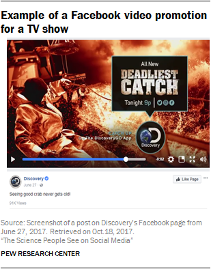 Example of a Facebook video promotion for a TV show