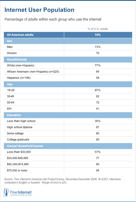 Internet users demographics